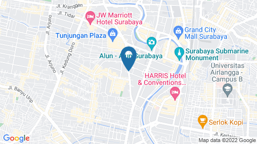 Wyndham Surabaya City Centre Map