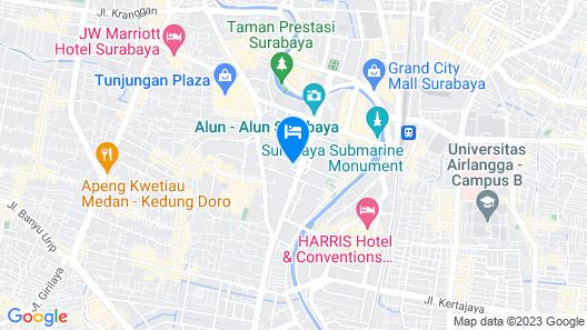 Aria Centra Hotel Surabaya Map