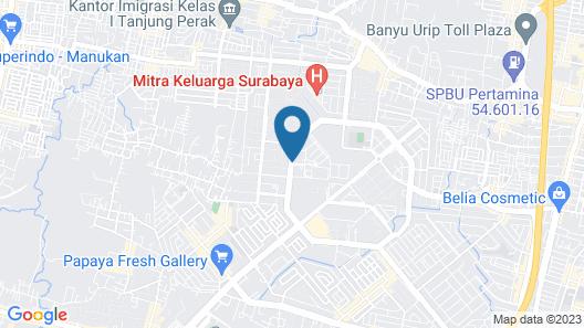 Whiz Prime Hotel Darmo Harapan Surabaya Map