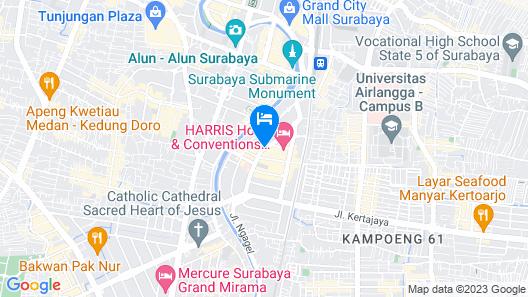 Hotel Santika Premiere Gubeng - Surabaya Map