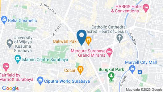 ibis budget Surabaya Diponegoro Map
