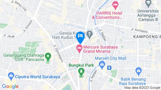 Mercure Surabaya Map
