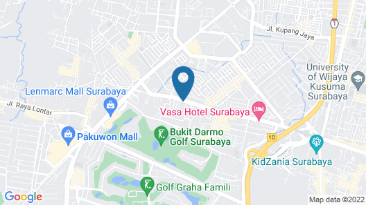 Golden Tulip Legacy Surabaya Map
