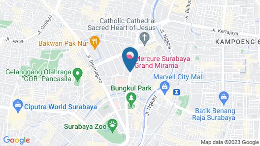 Quest Hotel Darmo - Surabaya by ASTON Map