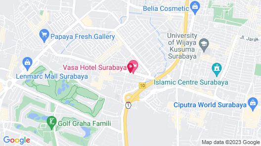 Vasa Hotel Surabaya Map