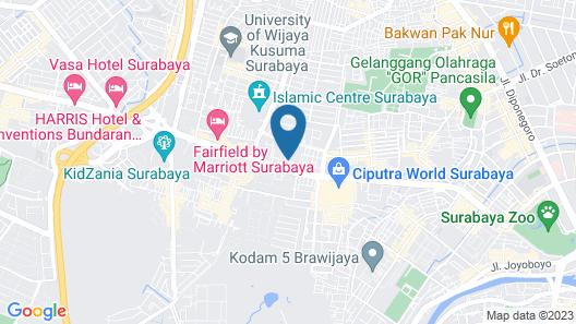 Shangri-la Hotel Surabaya Map