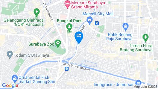 Novotel Surabaya Hotel & Suites Map