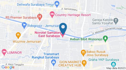Novotel Samator Surabaya Timur Map