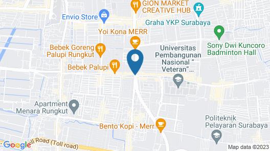 OYO 318 K1 UPN Rungkut Madya Map