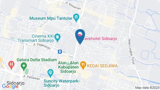 favehotel Sidoarjo Map