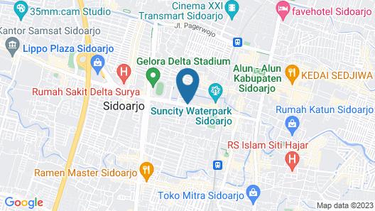Luminor Hotel Aiport Sidoarjo Map
