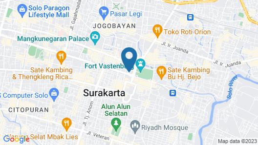 The Royal Surakarta Heritage Solo MGallery by Sofitel Map