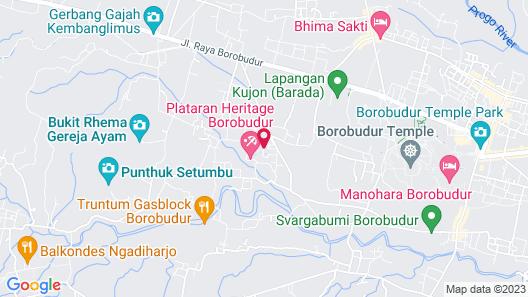 Plataran Heritage Borobudur Hotel Map