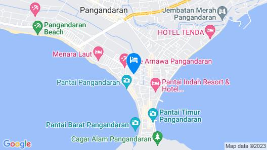 OYO 370 Hotel Sofia Pangandaran Map