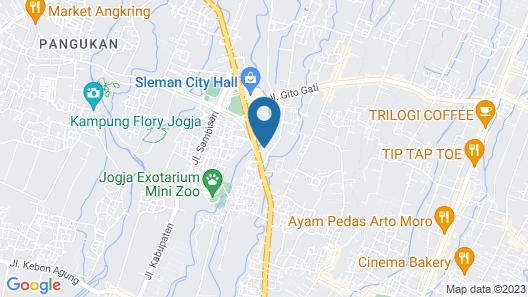 Simply Homy Guest House Unit Denggung Map