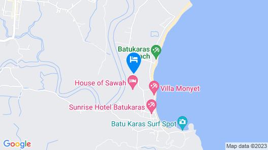 Lagoona Beach Bungalows Map