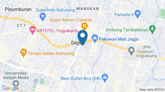 Grand Keisha Yogyakarta Map