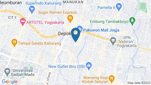 Yogyakarta Marriott Hotel Map