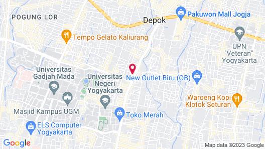 Oasis Studio Hotel Satu Map