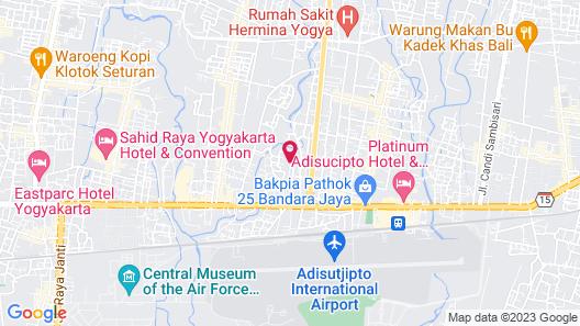 Sheraton Mustika Yogyakarta Resort and Spa Map
