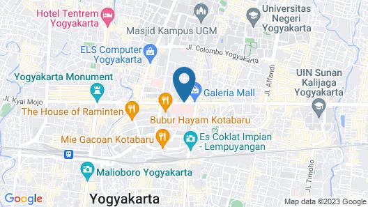 Grand Aston Yogyakarta Map