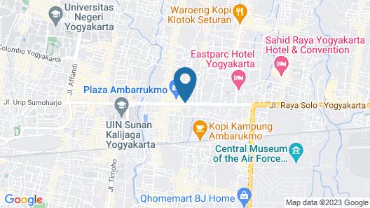 Royal Ambarrukmo Yogyakarta Map