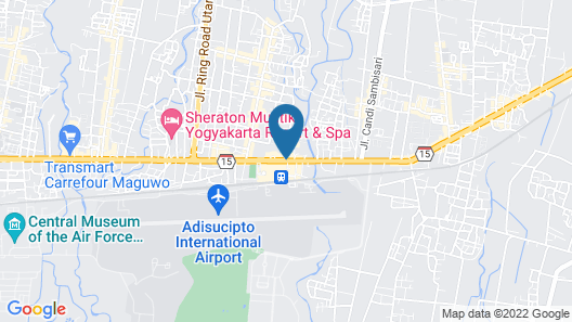 Platinum Adisucipto Hotel & Conference Map