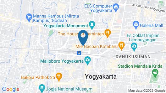 Emersia Malioboro Hotel  Map
