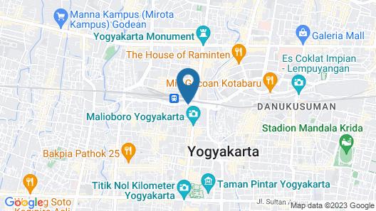 Malioboro Prime Hotel Map