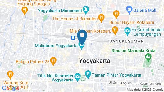 Hotel Amalia Malioboro Map