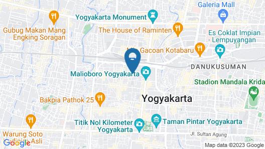 Hotel Monica Jogja Map
