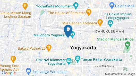 Hotel Batik Yogyakarta Map