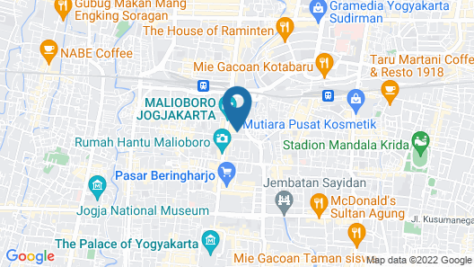 Hotel Atalie Malioboro Map