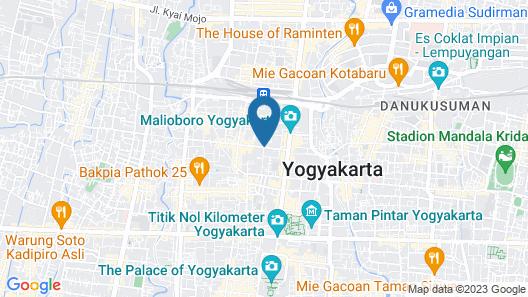 Hotel Dafam Fortuna Malioboro Yogyakarta Map