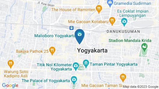 Aveta Hotel Malioboro Map