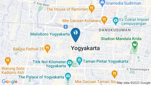 Hotel Prambanan Malioboro Map