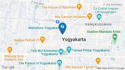 Whiz Hotel Malioboro Yogyakarta Map
