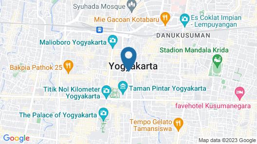 Melia Purosani Yogyakarta Map