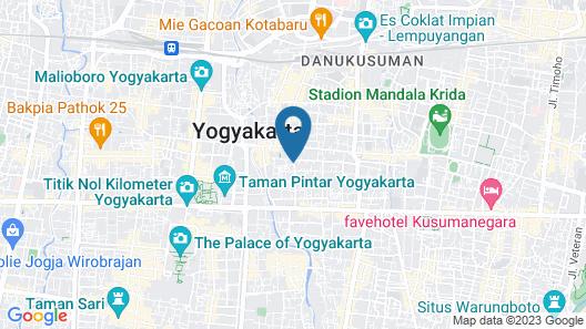 Jambuluwuk Malioboro Hotel Yogyakarta Map