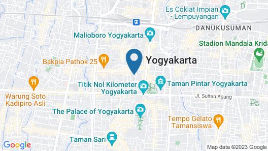 Pesonna Hotel Malioboro Yogyakarta Map