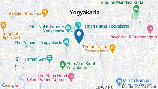 Snooze Guesthouse Yogyakarta - Hostel Map