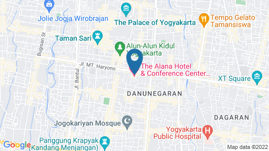 The Alana Hotel & Conference Center Malioboro Yogyakarta by ASTON Map