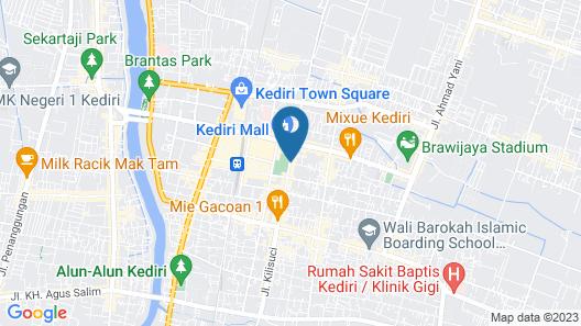Citihub Hotel @Kediri Map
