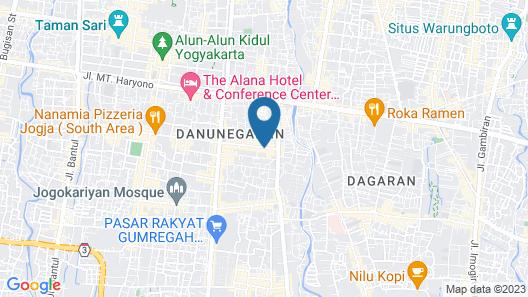 Pandanaran Prawirotaman Yogyakarta Map