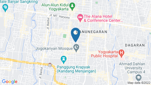 The GRAND PALACE Hotel - YOGYAKARTA Map