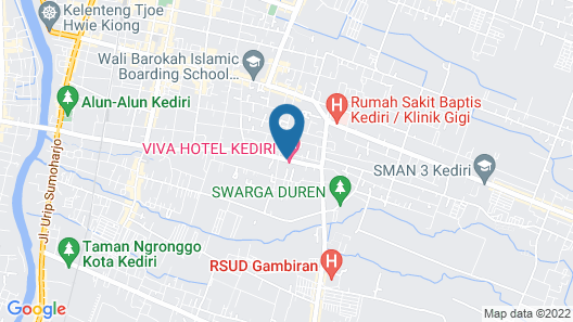 Viva Hotel Kediri By Front One Map