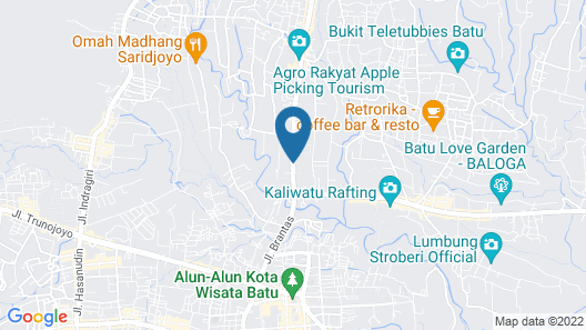 Hanoman Hotel Kota Batu Map