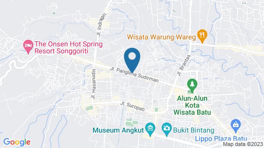De Wahyu Hotel Map