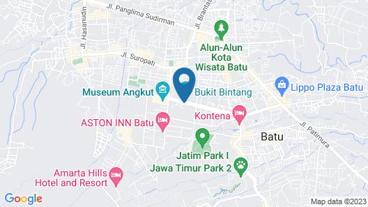 THE BATU Hotel & Villas Map
