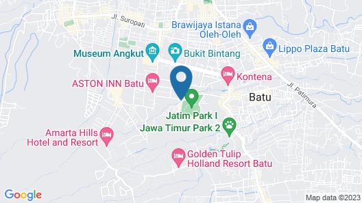 Villa 4 Kamar Klub Bunga Resort No.8 Map